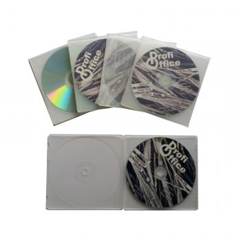 Profioffice 50 CD/DVD Hüllen, transparent 2 x 5 CD/DVD Hüllen